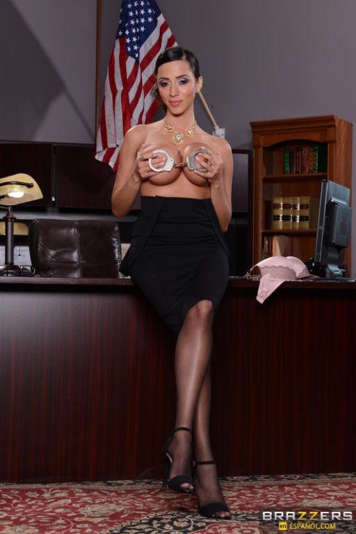 Busty cutie believes that a good secretary should