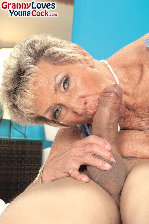 Granny Sandra Ann sucking and fucking her toy boy