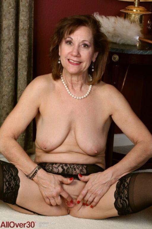 Elle Denay horny mature maid in black stockings st
