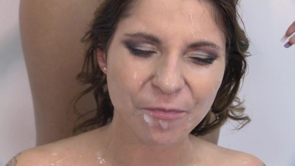 Kattie Hill swallows 52 cum loads