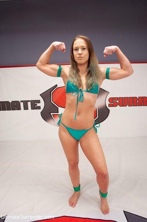 Kelli Provocateur busty ebony wrestle dominated an