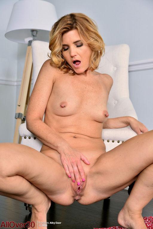 Horny natural mature strips naked