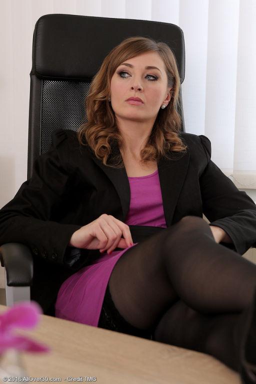Strict boss Luca Bella teaches her employee a less
