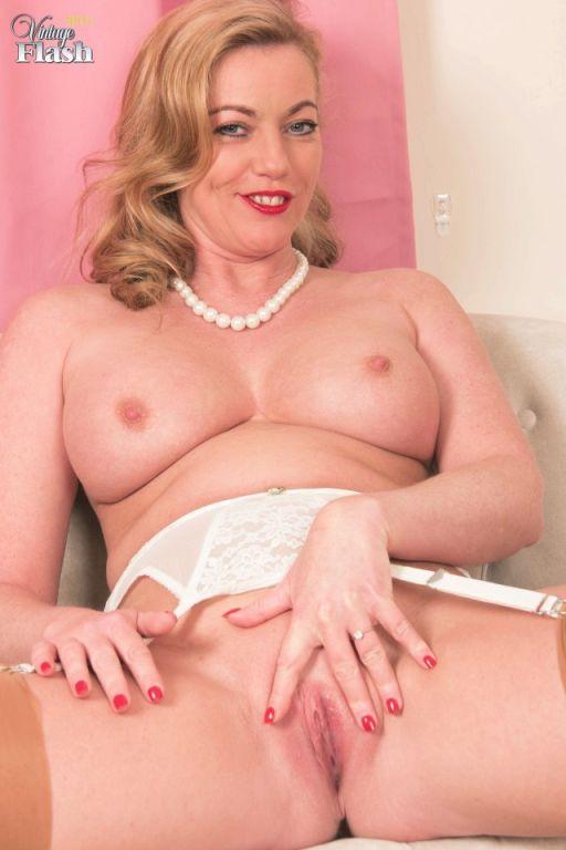 Holly Kiss in slinky lingerie nylons heels
