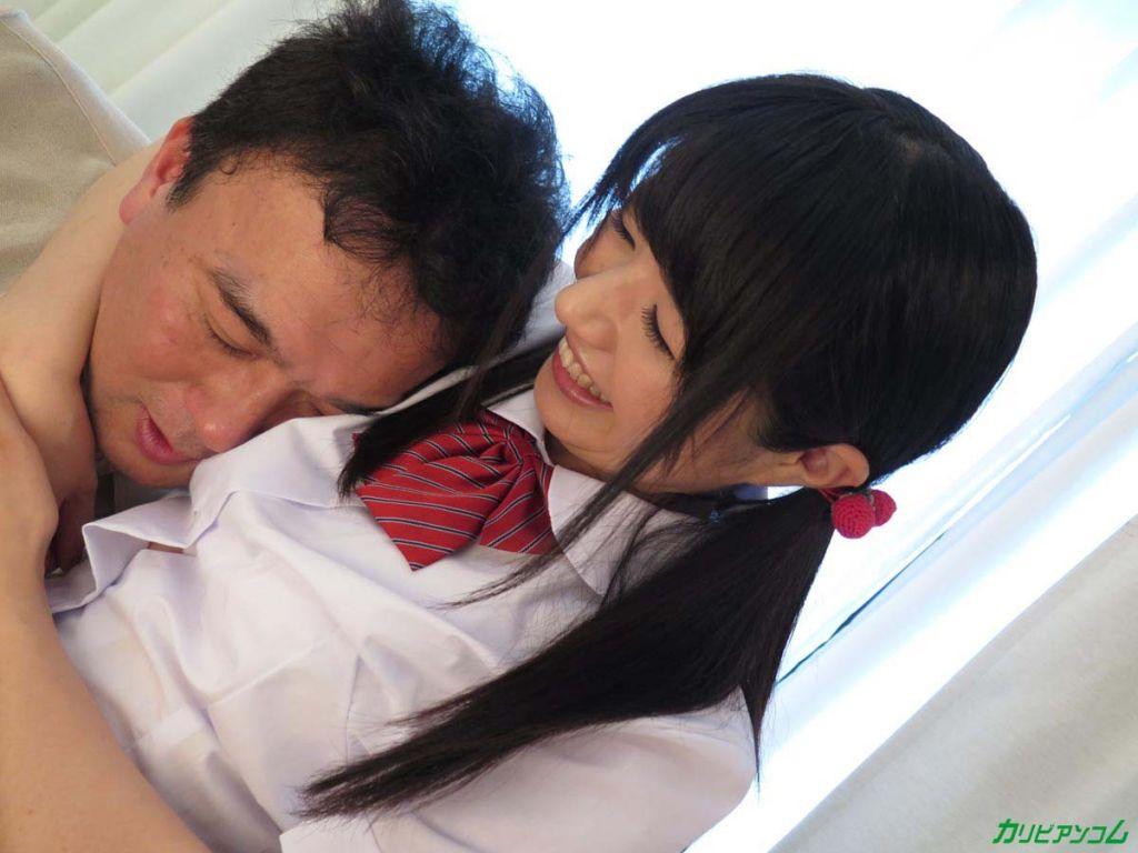 Japanese Schoolgirl Sucks and Bangs For Creampie
