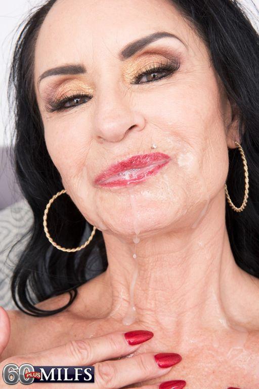 Dark haired cougar Rita Daniels seduces the male p
