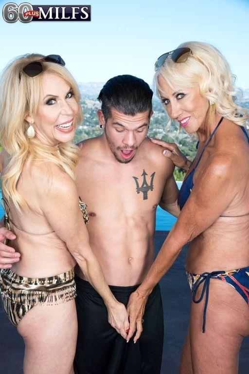 Blonde hot milf Erica Lauren and her friend give a