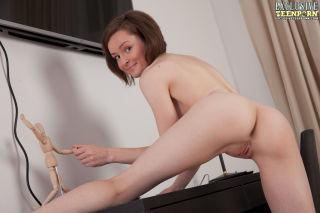 Playful solo girl