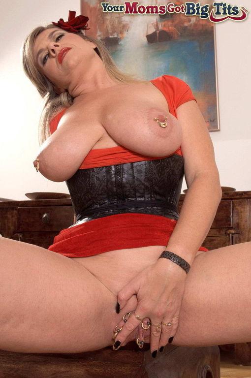Blonde multi pierced German housewife Marina Rene