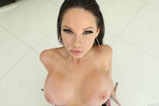 Brunette pornstar with a tattooed body Raven Bay g