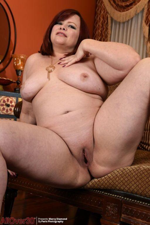 Marcy Diamond busty redhead mom with big ass strip