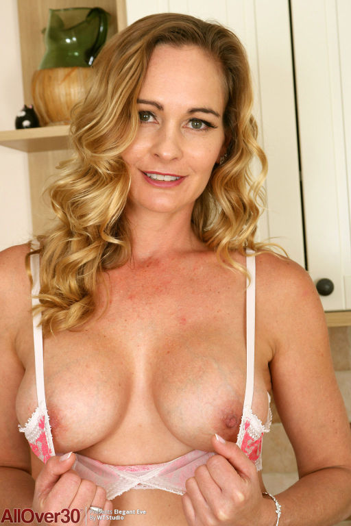 Hot fit milf in the kitchen
