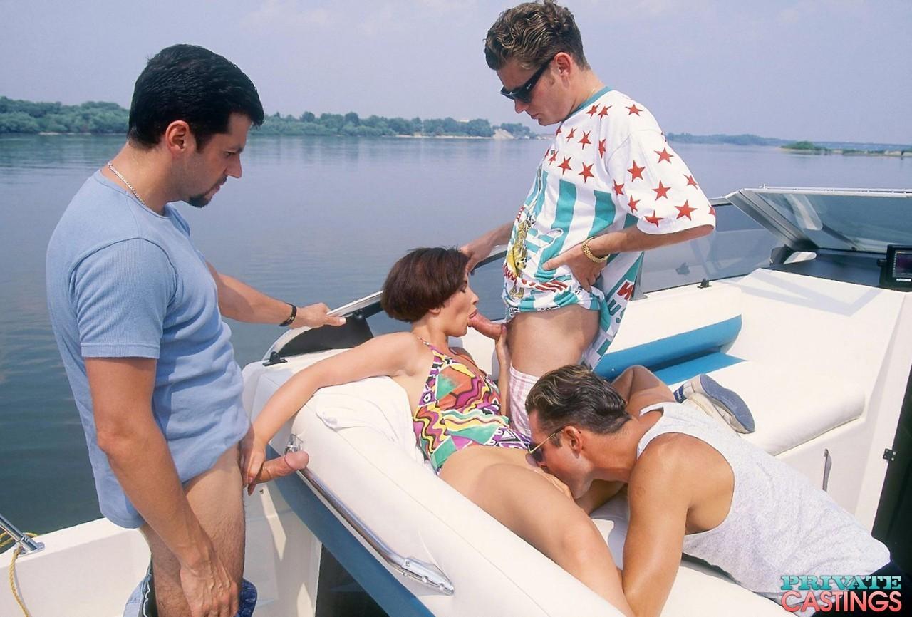 Gangbang on a boat