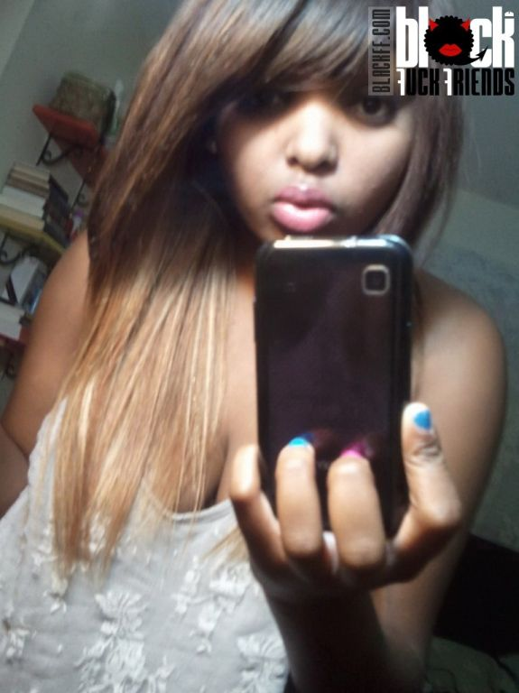 Busty black girl with big boobs selfshot