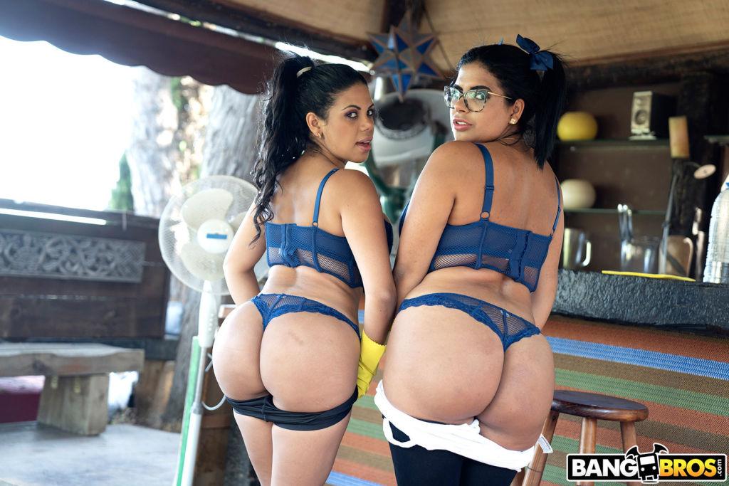 Sheila Ortega and Kesha Ortega clean their clients