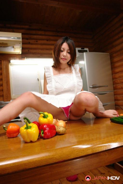 Sakurako loves to tease her vagina