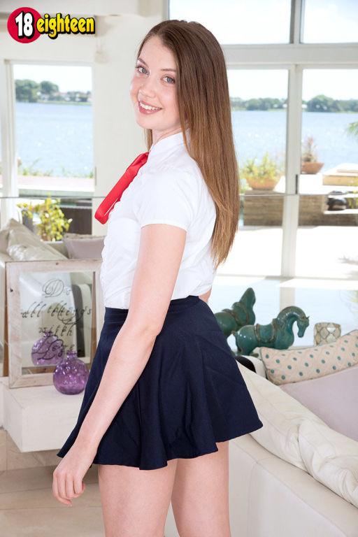 Schoolgirl Elena Koshka sucks and fucks black cock