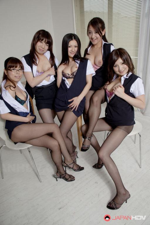 Hot Amu Umino shows her stockings