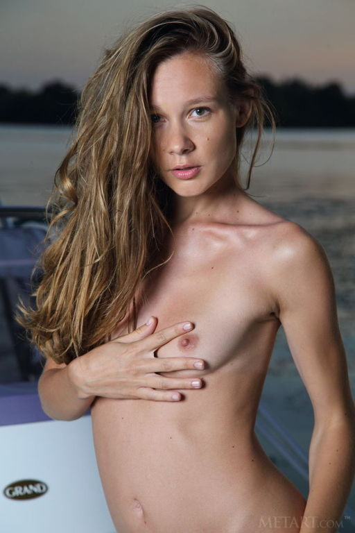 Young Russian model Mirabella set Boating by MetAr