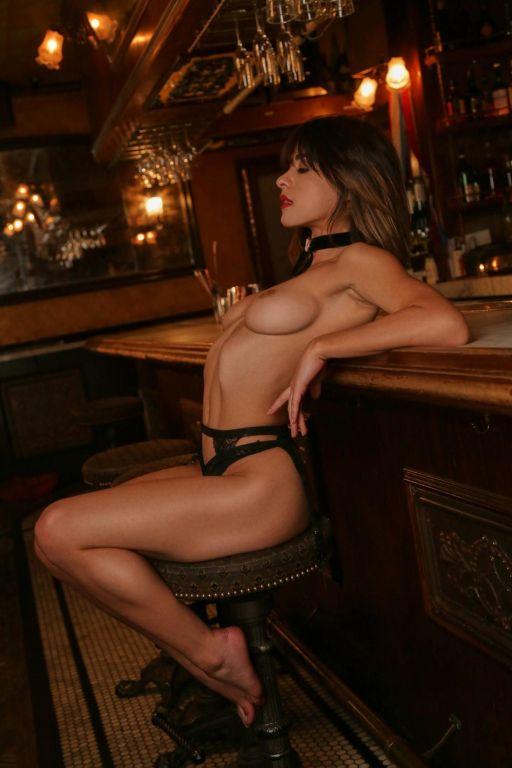 Super hot horny brunette in lingerie