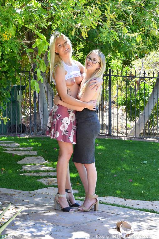 Victoria and Sasha in A Cute Couple