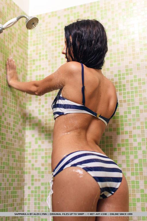 Sapphira A displays her smoldering body as she tak