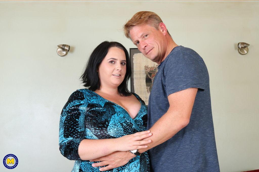 Curvy big breasted British temptress getting nasty