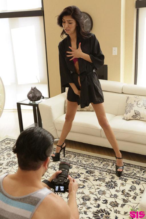 Pink panties Latina shows off her naughtier side d