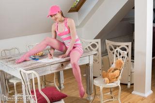 Sexy girl in pink undies