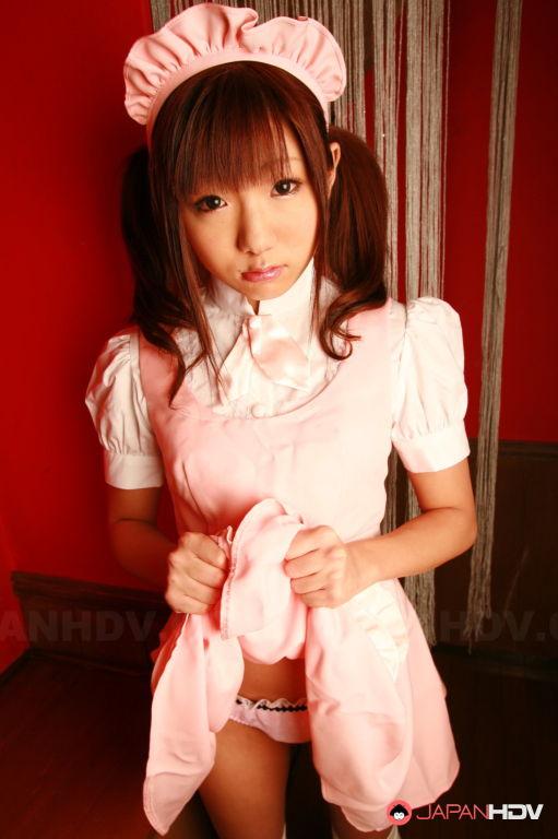 Mahiru Tsubaki in a sexy uniform