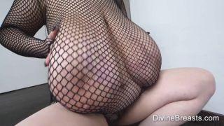 Giant 85JJ Breasts In Fishnet