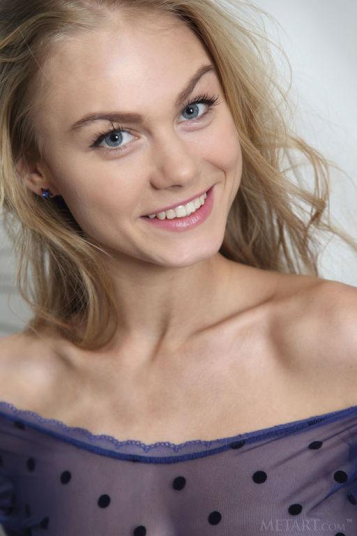 Young Russian model Nancy A set Polka Dots by  Met