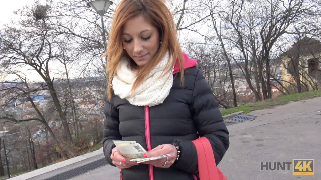 HUNT4K Handsome guy with money makes winsome girl