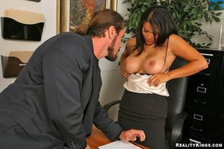 Busty raven haired office milf Sophia Lomeli in bl