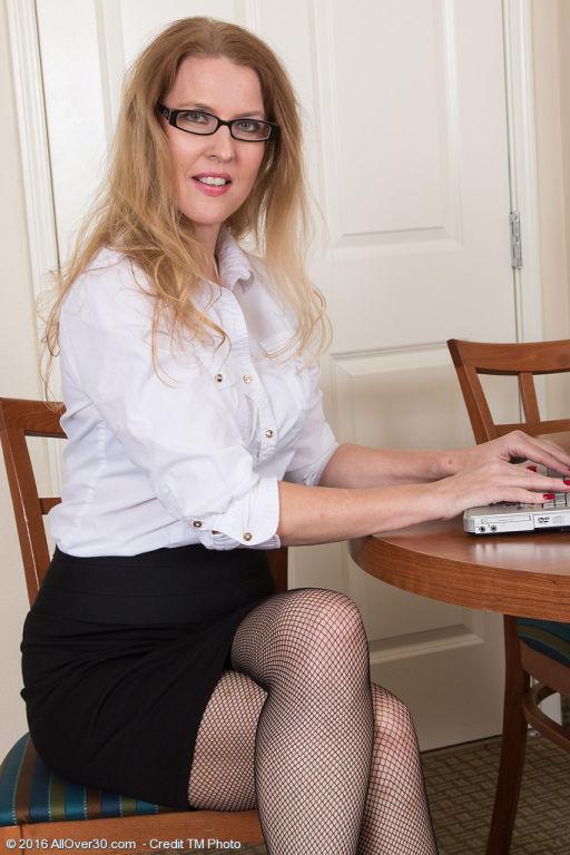 Bespectacled secretary Lacy F