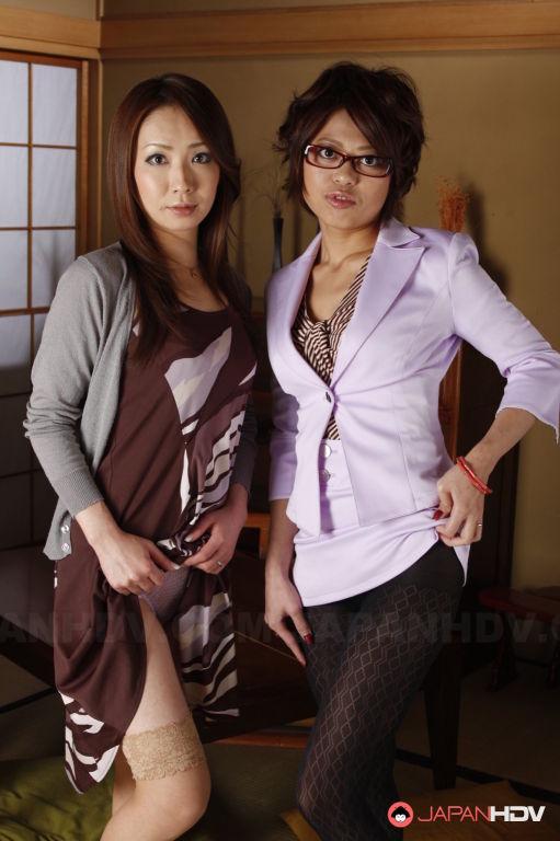 Ryo and Kumiko Aida showing off