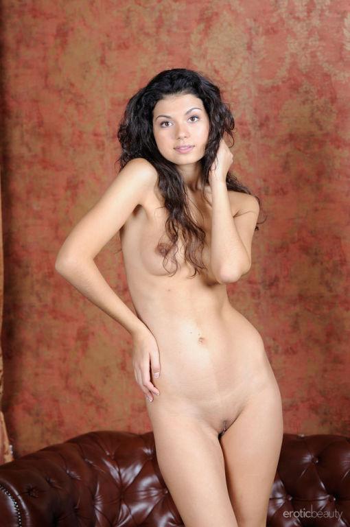 Newcomer Dasha L flaunts her slender body as she s