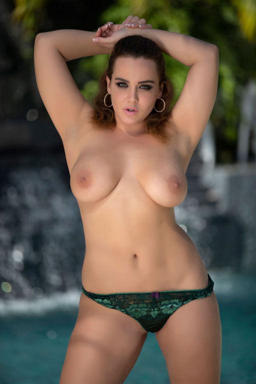 Natasha Nice in green bikini and matching stiletto