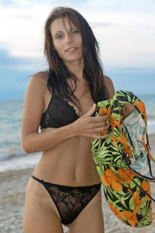 sexy Irena C babes beach