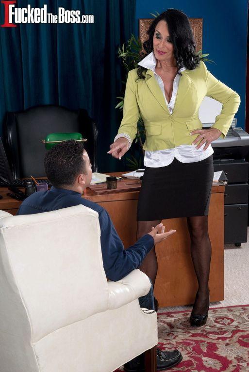 The ass-fucked boss is Rita Daniels