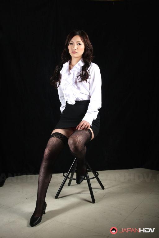 Teacher Mayumi Takara shows off