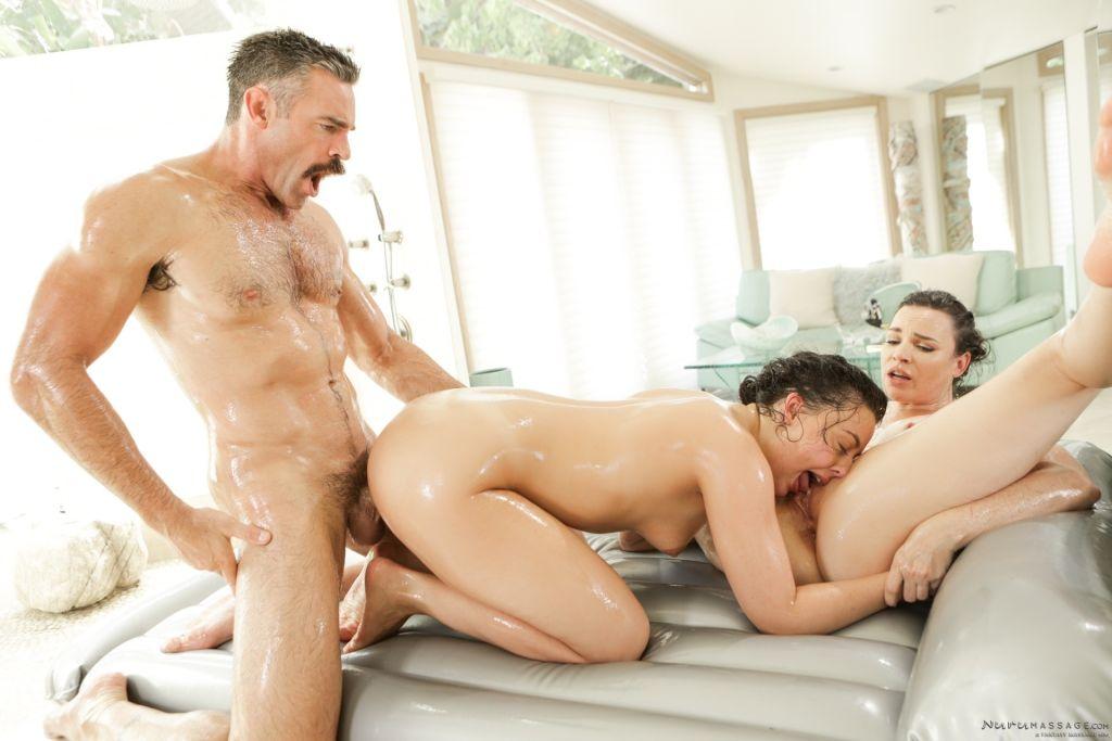 Two masseuses Dana DeArmond and Whitney Wright