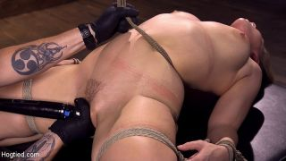 Hadley Viscara busty blonde is bound in rope for s