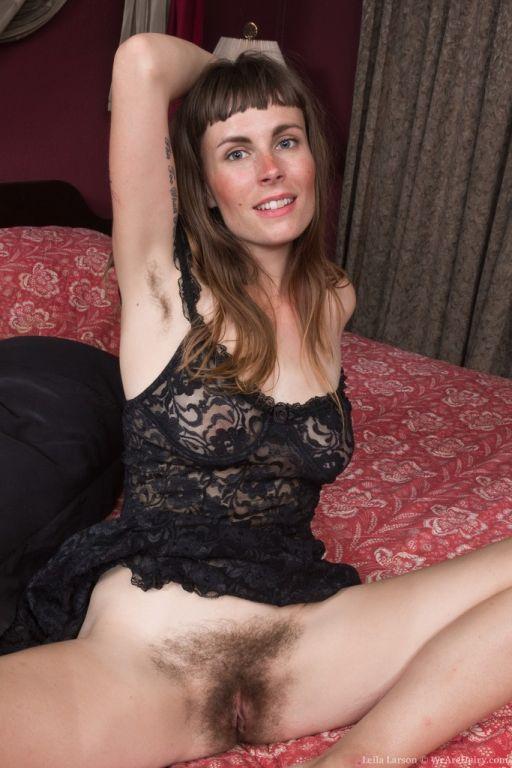 Leila Larson strips naked in her bedroom
