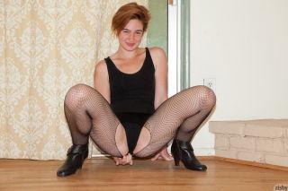 naked Jodi Taylor stockings short hair