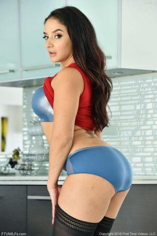 sexy Sheena Ryder brunette lingerie