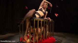 Mona Wales blonde milf femdom in stockings interr