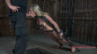 naked Dia Zerva spanking tied