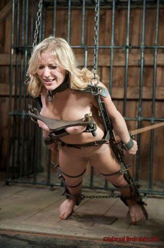 naked Dia Zerva toys tied