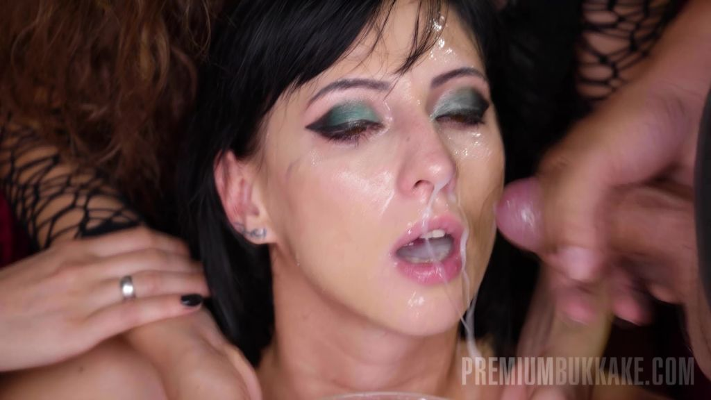 Stunning Sherry is fully covered in cum